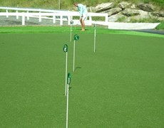 Avalon Golf series improved with new PE putting green