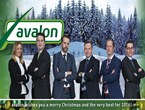 Avalon wishes you a merry Christmas and a happy new year!